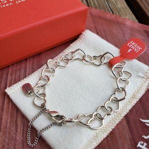 04e75c5d02772 NWT James Avery Connected Hearts Charm Bracelet Boutique